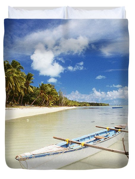 Cook Islands, Aitutaki Duvet Cover by Bob Abraham - Printscapes
