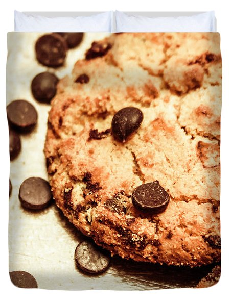 Cookies With Chocolare Chips Duvet Cover