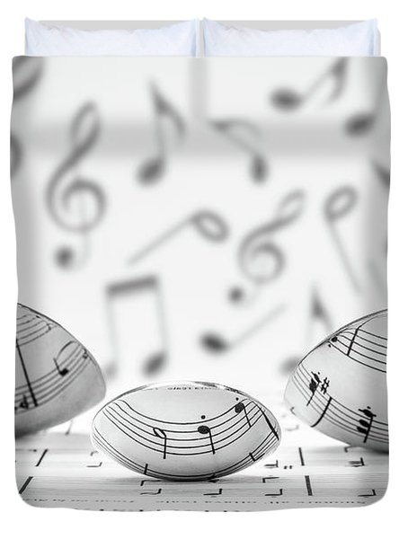 Cooking Is Like Music Duvet Cover
