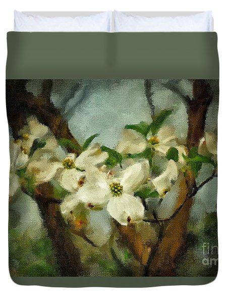 Cool Breeze Painterly Duvet Cover