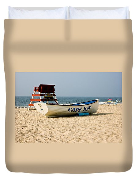 Cool Cape May Beach Duvet Cover