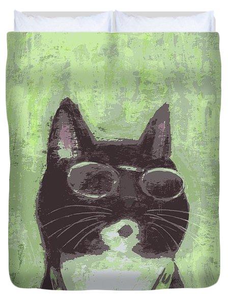 Cool Cat #2 Duvet Cover