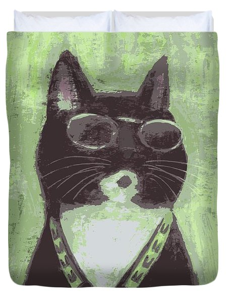 Cool Cat #2 Duvet Cover