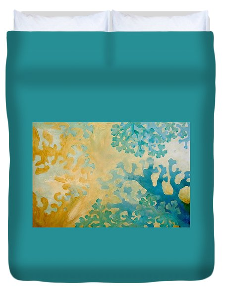 Cool Coral Duvet Cover