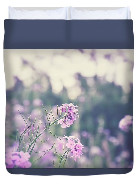 Duvet Cover featuring the photograph Cool Flowers by Nikki McInnes