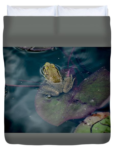 Cool Frog-hot Day Duvet Cover