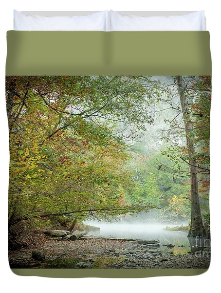 Cool Morning Duvet Cover by Iris Greenwell