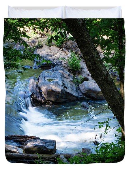 Cool Mountain Stream Duvet Cover