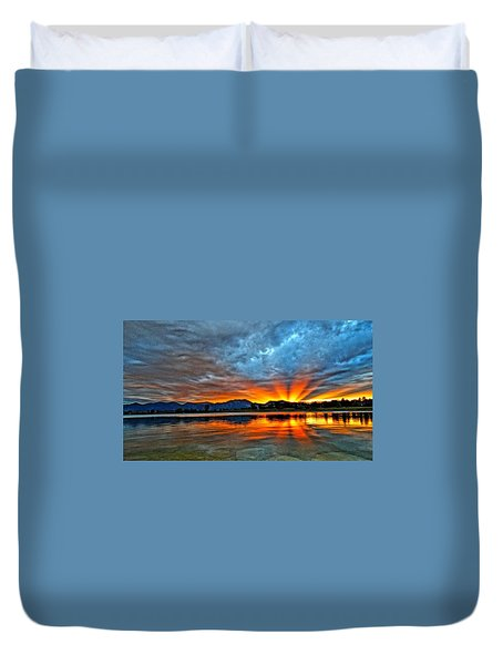 Cool Nightfall Duvet Cover by Eric Dee