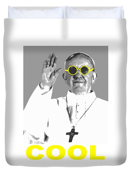 Cool Pope  Duvet Cover by Jean luc Comperat