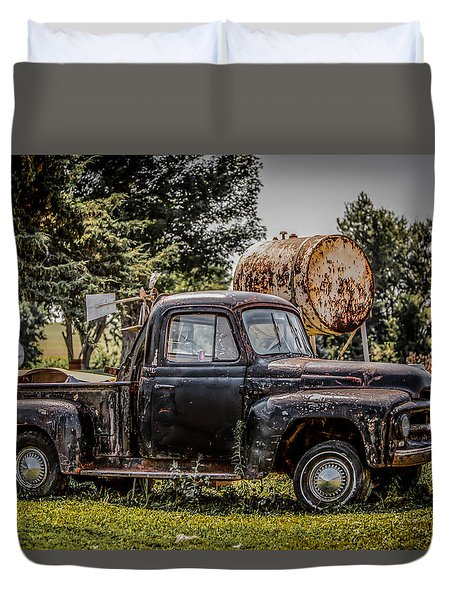 Cool Truck On A Hot Day Duvet Cover by Ray Congrove