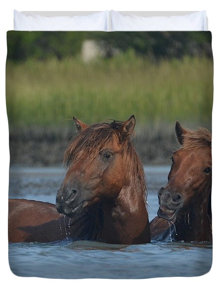 Cool Water, Nice Smile Duvet Cover