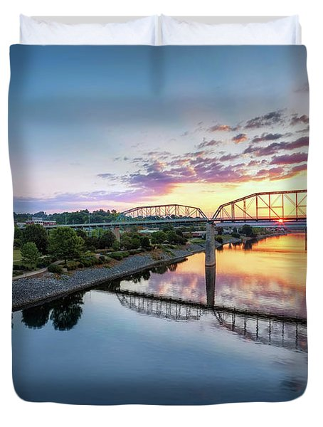 Coolidge Park Sunrise Duvet Cover