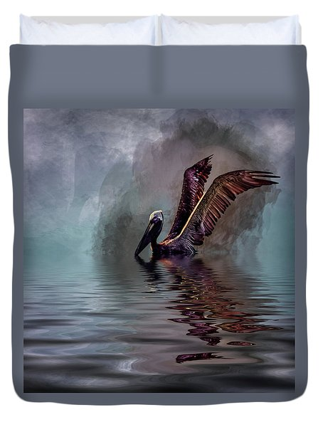 Cooling Off Duvet Cover by Cyndy Doty