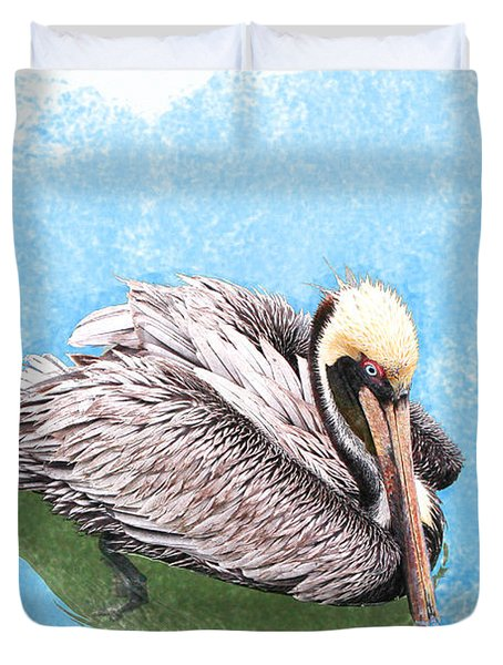 Cooling Off Duvet Cover by Mariarosa Rockefeller