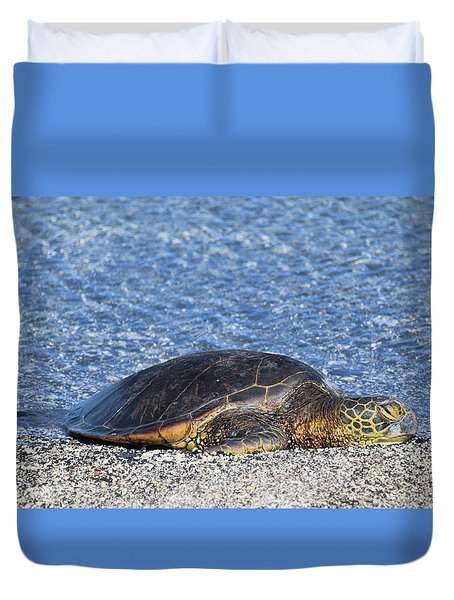 Duvet Cover featuring the photograph Cooling Off by Pamela Walton