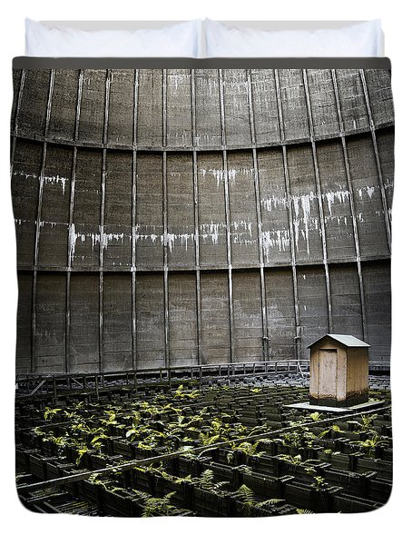 Duvet Cover featuring the photograph Cooling Tower Petit Maison by Dirk Ercken