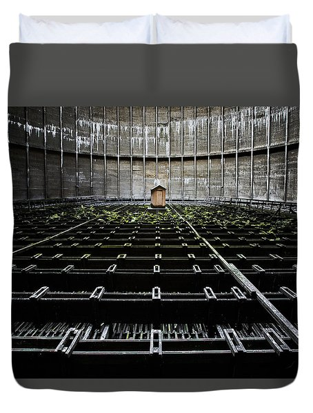 Duvet Cover featuring the photograph Cooling Tower Water Distribution by Dirk Ercken