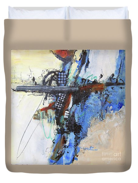Coolly Collected Duvet Cover