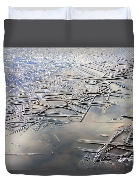 Duvet Cover featuring the photograph Coolness by Mary Amerman