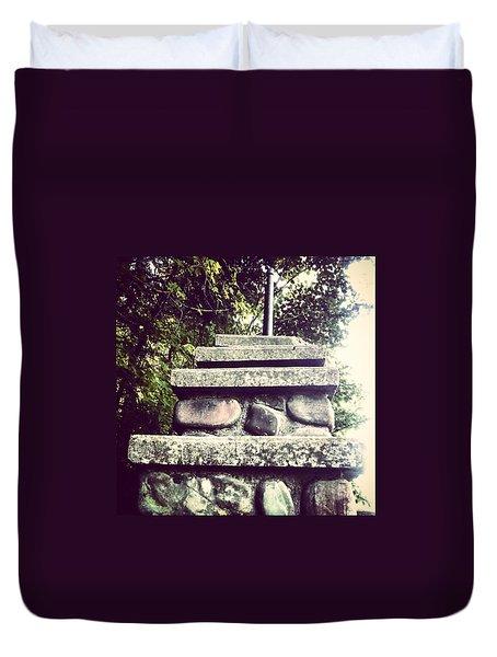 Fountain Staircase  Duvet Cover