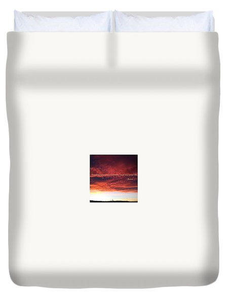 Cooma Sunset Duvet Cover by Paru M