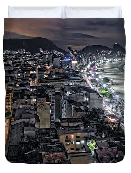 Copacabana Lights Duvet Cover