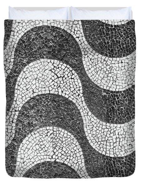 Copacabana Tiles In Rio De Janeiro Duvet Cover