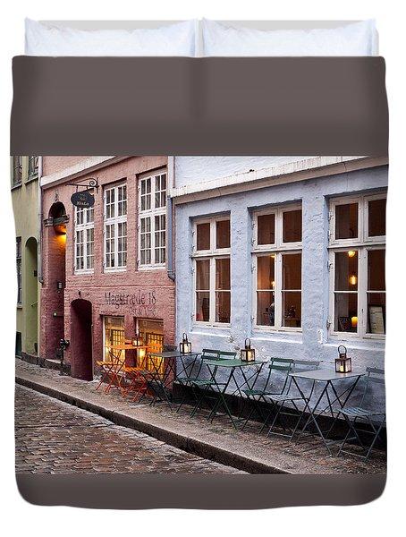 Copenhagen Patio Duvet Cover by Rae Tucker