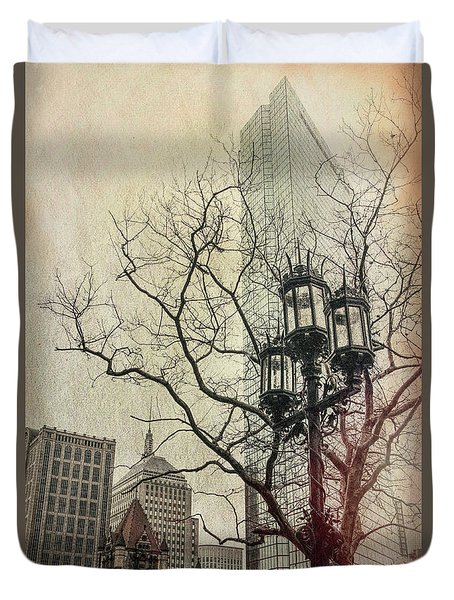 Duvet Cover featuring the photograph Copley Square - Boston by Joann Vitali