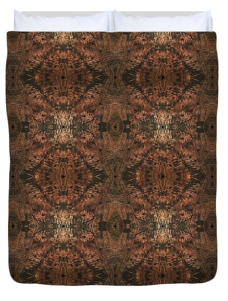 Copper Abstract 1 Duvet Cover