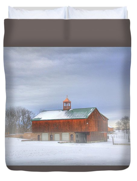 Duvet Cover featuring the digital art Copper Cupola by Sharon Batdorf