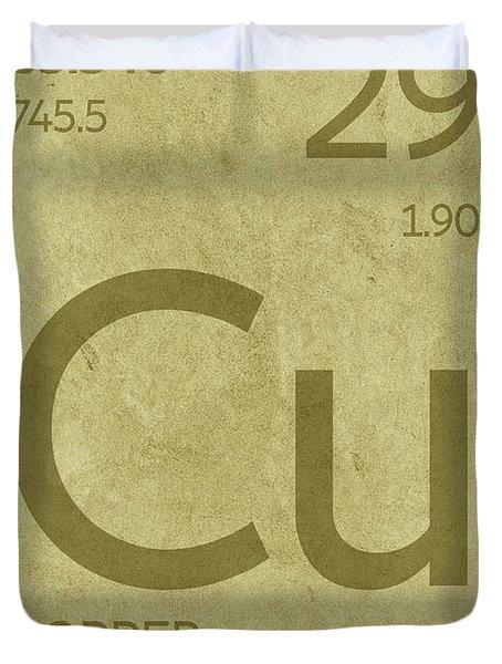Copper Element Symbol Periodic Table Series 029 Duvet Cover