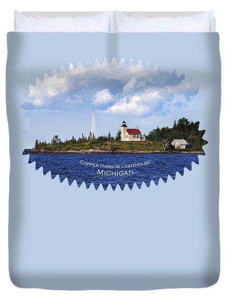 Copper Harbor Lighthouse Duvet Cover by Christina Rollo