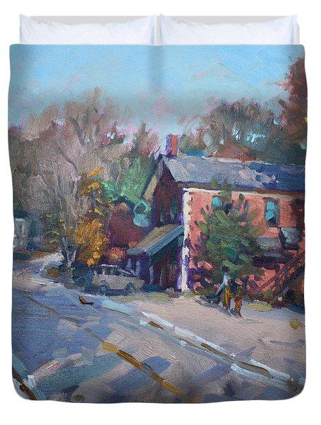 Copper Kettle Pub In Glen Williams On Duvet Cover