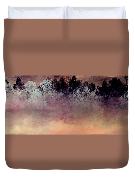 Copper Lake Duvet Cover by Jessica Wright