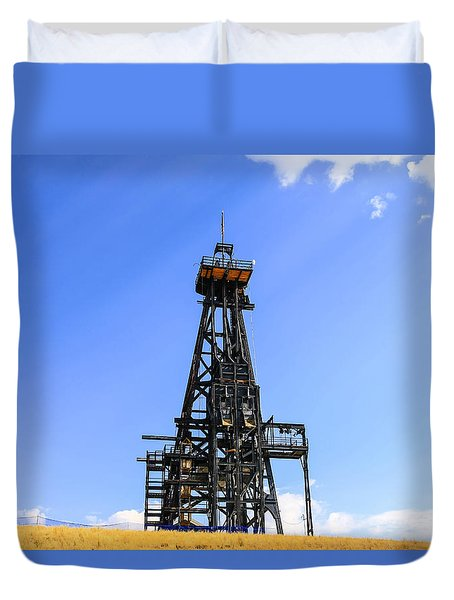 Copper Mine In Montana Duvet Cover by Chris Smith