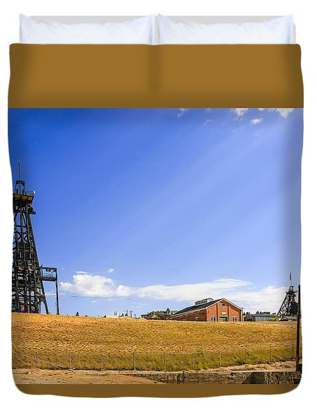 Copper Mining In Montana Duvet Cover