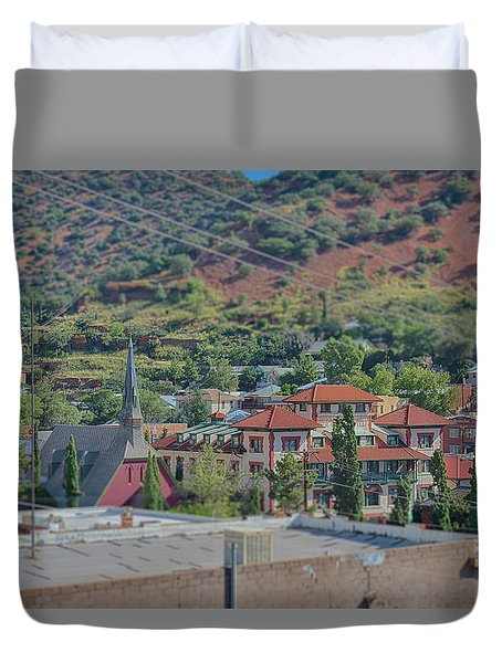 Duvet Cover featuring the photograph Copper Queen Hotel by Dan McManus