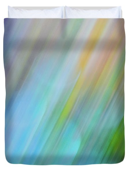 Copper Rainbow Duvet Cover by Cheryl McClure