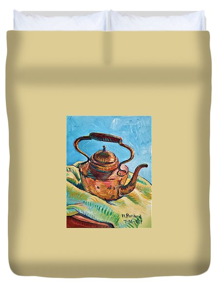Copper Teapot Duvet Cover