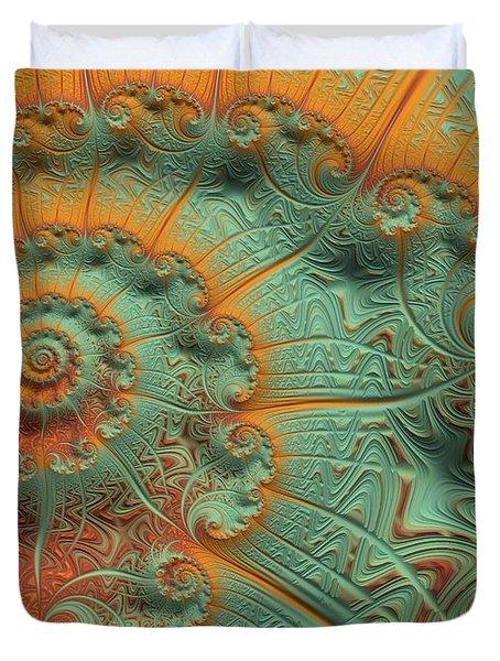 Copper Verdigris Duvet Cover