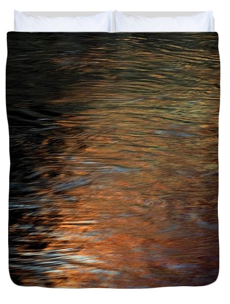Duvet Cover featuring the photograph Copper Water by Kenneth Campbell