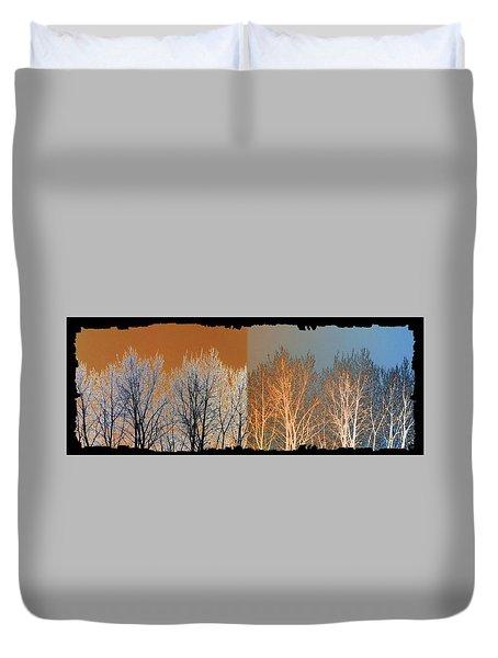 Coppertone Fusion Duvet Cover by Will Borden