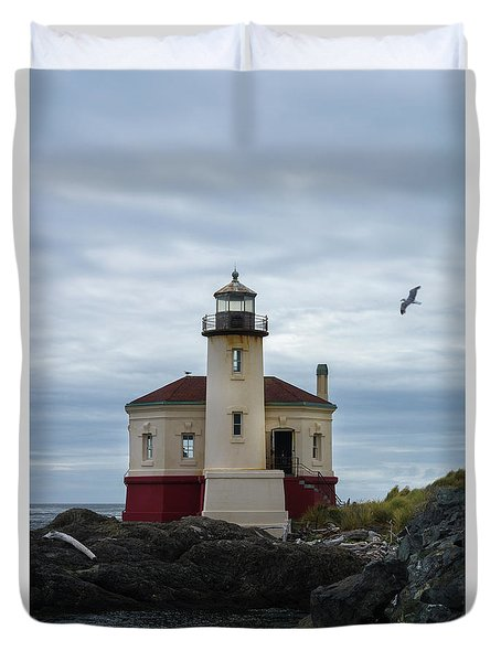 Coquille Lighthouse II Duvet Cover