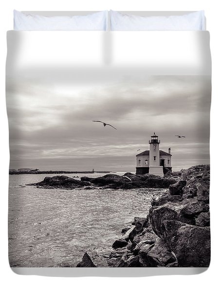 Coquille Lighthouse Oregon  Duvet Cover