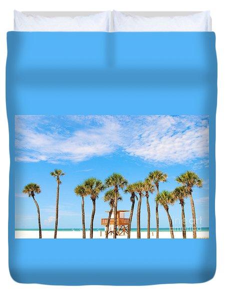 Coquina Beach Anna Maria Island Duvet Cover