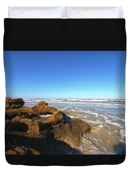 Coquina Beach Duvet Cover