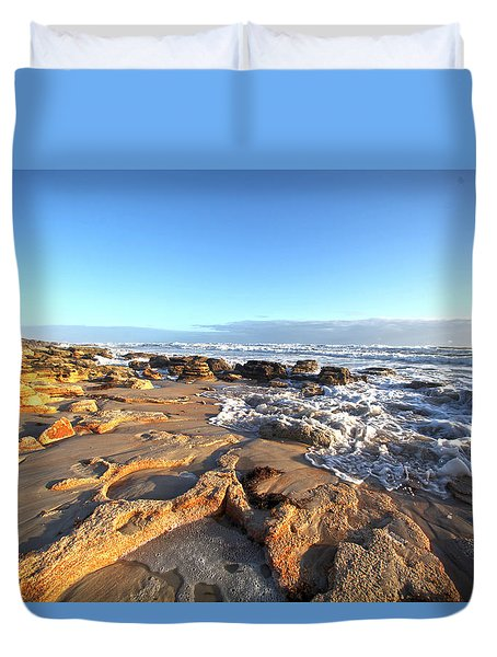 Coquina Carvings Duvet Cover