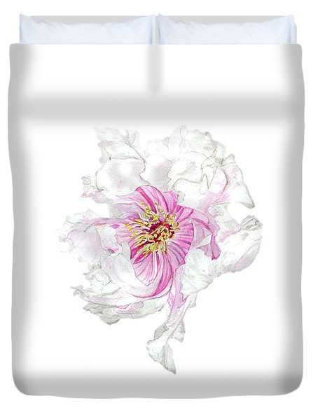 The Dancing Peony Duvet Cover
